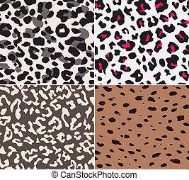 modèle, peau, seamless, animal, tissu
