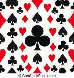 modèle, poker, seamless, fond