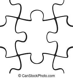 modèle, puzzle, puzzle, seamless