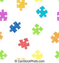 modèle, puzzle, seamless, arrière-plan.