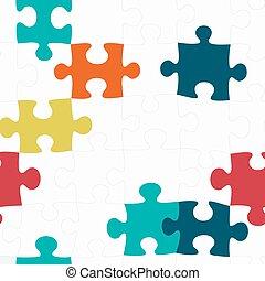 modèle, puzzle, seamless