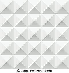 modèle, résumé, gris, seamless, géométrique, carrés, blanc