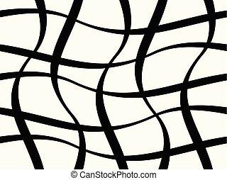 modèle, résumé, lignes, ondulé, figures, géométrique