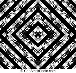 modèle, résumé, noir, blanc, géométrique