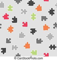 modèle, résumé, vecteur, puzzle, seamless