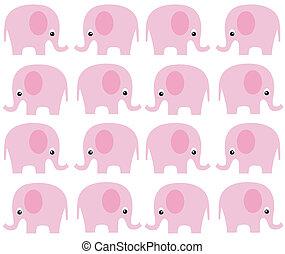 modèle, seamless, éléphant
