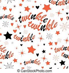 modèle, seamless, étoiles, scintillement