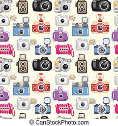 modèle, seamless, appareil photo