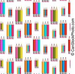 modèle, seamless, coloré, crayons