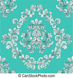 modèle, seamless, floral, papier peint, carrelage