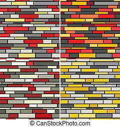 modèle, seamless, murs
