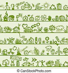 modèle, ton, seamless, concept., écologie, conception