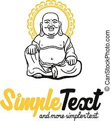 modèle, traditionnel, bouddhisme, artistique, chinois