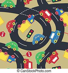 modèle, trafic, seamless, transport