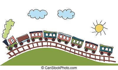 modèle, train