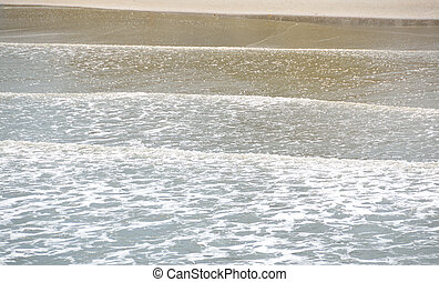 modèle, vagues, océan
