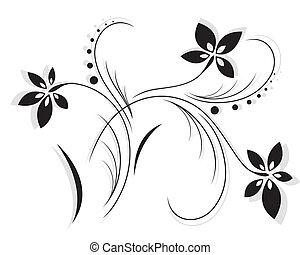modèle, vecteur, fleur