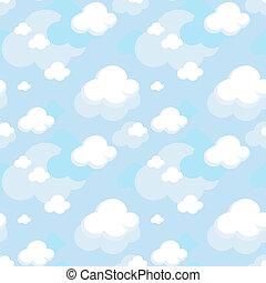 modèle, vecteur, nuages