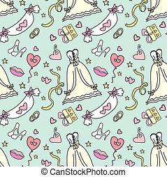 modèle, -wedding, bridal., mariage, seamless
