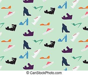 modèle, women's, chaussures