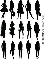 modèles, silhouettes, collection