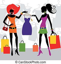 mode, achats, femmes