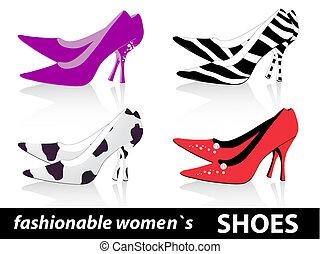 mode, chaussures, femmes