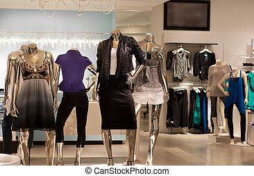 mode, magasin, vente au détail