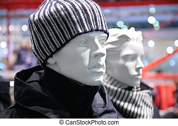 mode, mannequin, magasin, homme