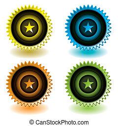 moderne, étoile, icône
