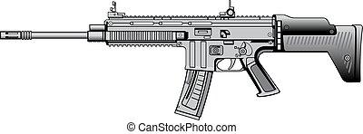 moderne, automatique, fusil