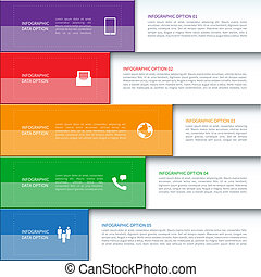 moderne, bannière, business, infographics