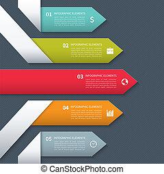 moderne, bannière, minimalistic, infographics