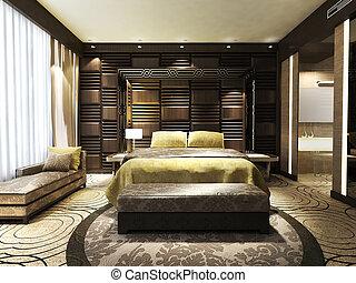 moderne, chambre à coucher