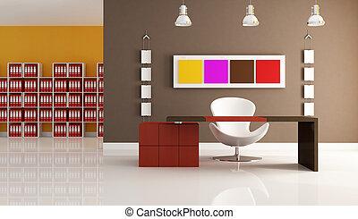 moderne, coloré, bureau