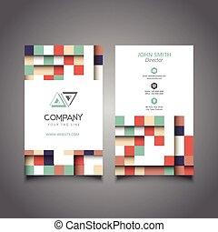 moderne, conception, carte affaires