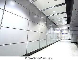moderne, couloir, bâtiment