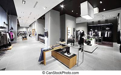 moderne, mode, magasin, vêtements