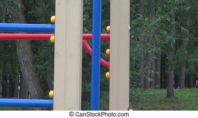 moderne, parc, enfants, cour de récréation