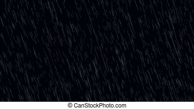 moderne, -, pluie, arrière-plan animation, tomber