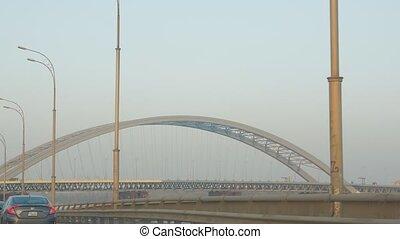moderne, pont, acier