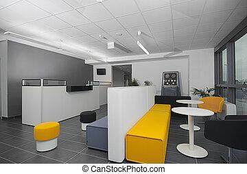 moderne, réception, bureau