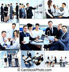 moderne, réunion, businesspeople, bureau, avoir