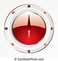 moderne, rouges, compas