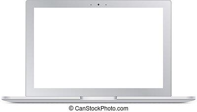 moderne, sérigraphie, vide, ordinateur portable