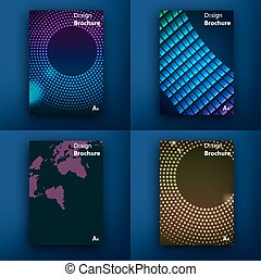 moderne, template., courrier, saa, interface., toile, toile, concept., ensemble, ligne, plat, design., app, templates., s, conception, brochures., ui, mobile, mobile, icons., technologie, infographic