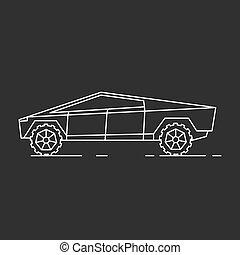 moderne, voiture, illustration.