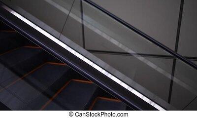 moderne, vue, côté, escalator