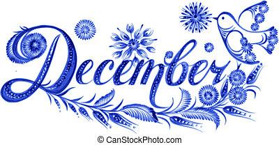 mois, décembre, nom