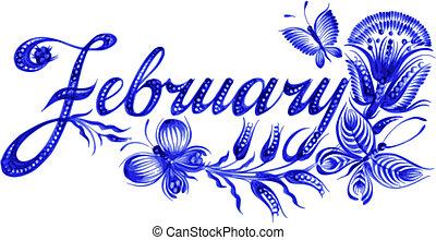 mois, février, nom